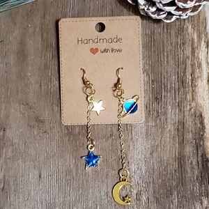 'Celestial' Gold-toned Drop Earrings